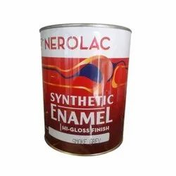High Gloss Nerolac Synthetic Enamel Smoke Grey Finish Paint, Packaging Type: Can