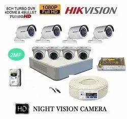 HIKVISION CCTV Camera Combo Pack- 8 Camera 8 Channel DVR