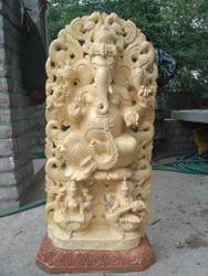 Wooden Ganesha Special Sculpture