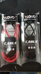 Micro 2.4A Heavy Metal USB Data Cable , Brand- Vloud for Charging