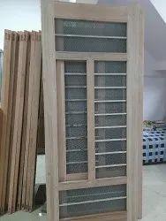Brown Interior Lal Marandi Double Jaali Door