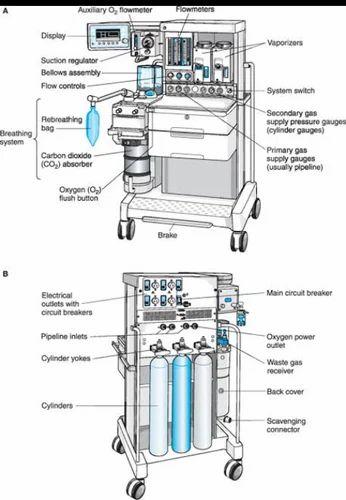 anesthesia machine  veterinary use  icu use  medical use