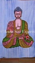 Indian Lord Buddha Room Decor Tapestry