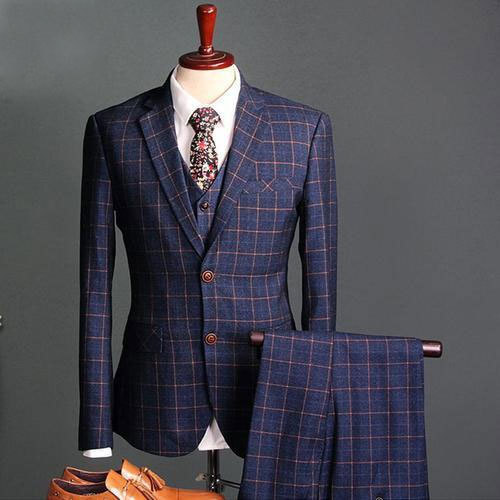 7e52c5a80 Mens Designer Check Suit