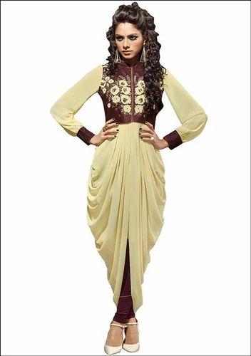 964b65e652 Chiffon Dhoti Style Kurti, Rs 500 /piece, S Sinha Enterprises | ID ...