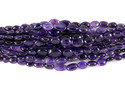 Natural Amethyst Oval Gemstone Beads