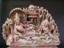 Stone Anandha Shayanam Statue