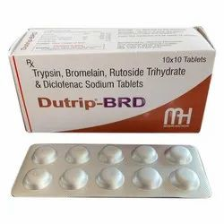 Trypsin Bromelain Rutoside Trihydrate and Diclofenac Sodium Tablets