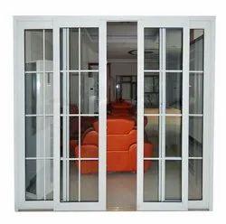 Toughened Glass Rectangular UPVC Doors