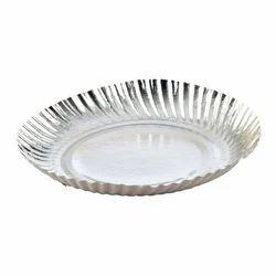 Silver Circular Plain Paper Plate  sc 1 st  IndiaMART & Disposable Paper Plate in Ujjain ?????????? ???? ...