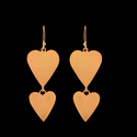 New Design Heart Shape Brass Hoop Earring