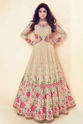 Royal Silk Embroidered Anarkali Salwar Kameez