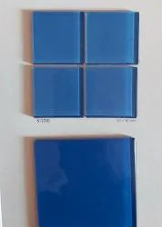 Flooring Crystal Glass Mosaic Tiles, For Swimming Pool Tiling, Thickness: 4 mm
