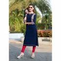 Mittoo Ladies 3/4 Sleeve Designer Kurti, Size: S-xxl