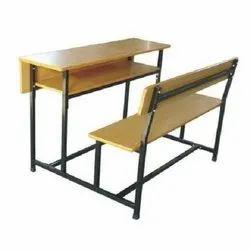 Mild Steel Dual Desk Bench