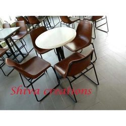 Shiva Creations Brown, White Designer Restaurant Furniture
