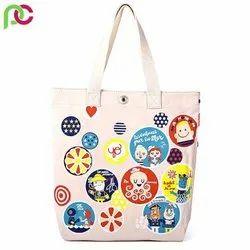 Loop Handle Cotton Tote Bag, Capacity: 10 Kg, Size/Dimension: 15*17 Inch