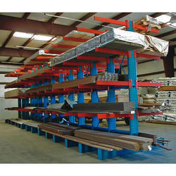 Mild Steel Blue And Red Cantilever Storage Rack, Purity: Supermarket, Warehouse, Office, Hospital