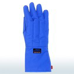 Blue Waterproof Cryo Gloves, Size: Free
