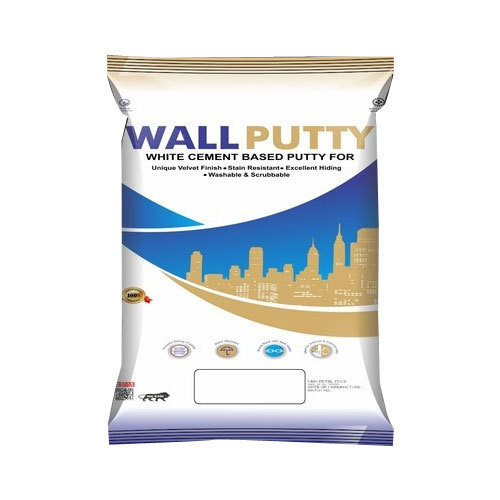 White Cement Based Wall Putty Powder, Packaging: 20 kg