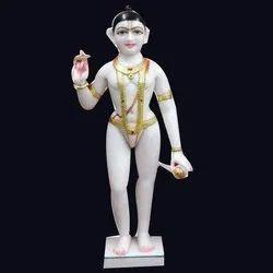 Marble Iskon Vishnu Statue