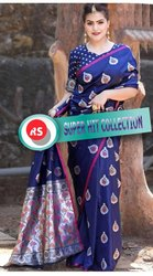 Shreeji Banarasi Silk Saree, 6.3 m (with Blouse Piece)