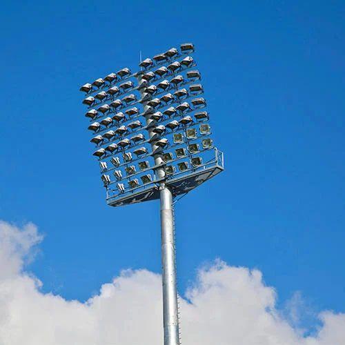 Stadium Of Lights: Hot Roll Steel Stadium High Mast Lighting Pole, Rs 250000