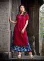 Cotton and Rayon Marvelous Printed Kurtis, Size: M & XL