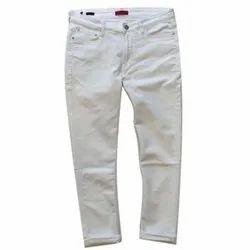 ST Germain White Mens Cotton Jeans