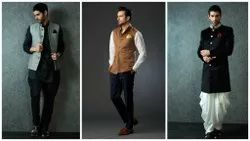 Multicolor Embroidered Mens Ethnic Wear