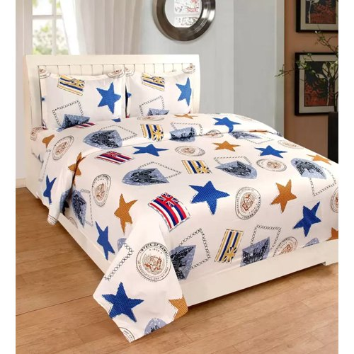Poly Cotton Double Bedsheet
