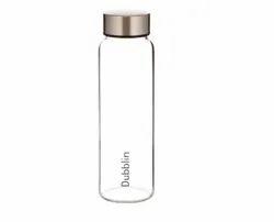 Transparent Dubblin Stream Glass Water Bottle, Capacity: 1000 Ml