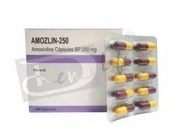 Amozlin-250 ( Amoxicillin Capsules BP)