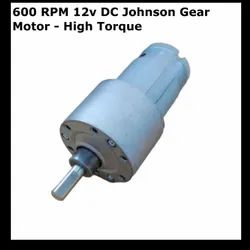 600 RPM 12v DC Johnson Gear Motor - High Torque