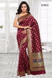 Silk Party Wear South Indian Printed Sarees