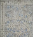 A Fine Quality Mosaic Design Wool Silk Oxidized Rugs
