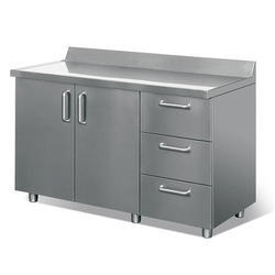 Stainless Steel Work Table With Cabinet