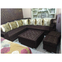 Chocolate Color 7 Seater Sofa Set