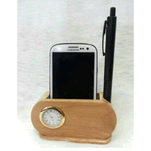 Brown Pen Stand Mobile Holder