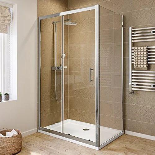 Standard Sliding Glass Shower Enclosure, Shower Stall With Sliding Glass Doors