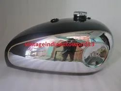 New Bsa Gold Star Black Painted Chrome Petrol Tank With Petrol Cap