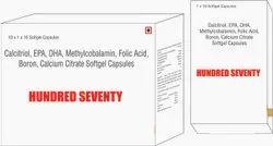 Calcitriol EPA DHA Methylcobalamin Folic Acid Capsules Boron Calcium Citrate Softgel Capsules