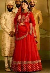 Stunning Red Bridal Lehenga Choli