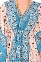 Cotton Printed Sky Blue Kaftan