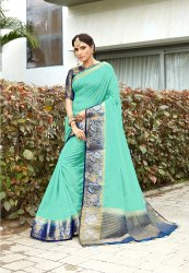 Ladies Linen Saree Length: 5.5 m
