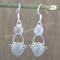 925 Sterling Silver Rose Quartz Gemstone Earring