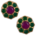 Mahaveer Pearls New Festive Collections Sensual Brass Stud Earring