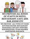 Staffs Supplier In Hotel, Restaurant, Cafe, Qsr
