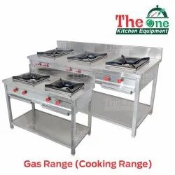 The One LPG Two Burner Gas Range, For Hotel, Size: 45 X 24 X 32 Inch