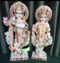 Colorful Marble Radha Krishna Statue